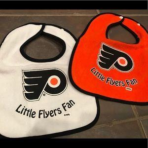🏒 NWOT Little Flyers Fan bib set NHL Philadelphia